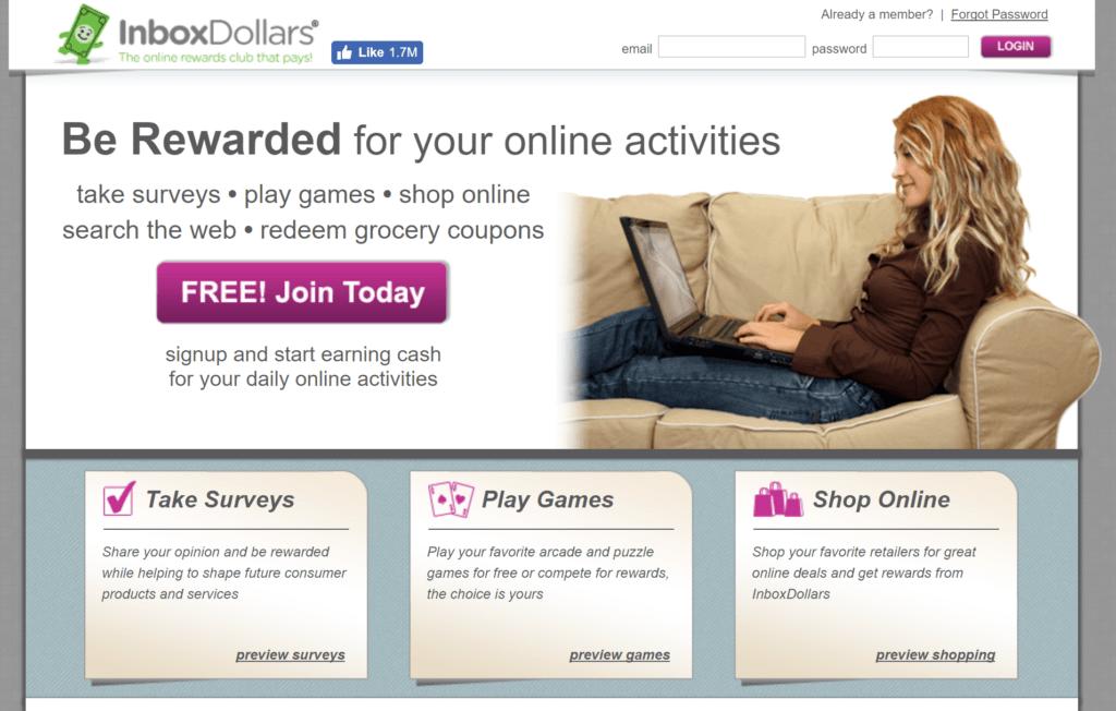 inboxdollars ptc sites
