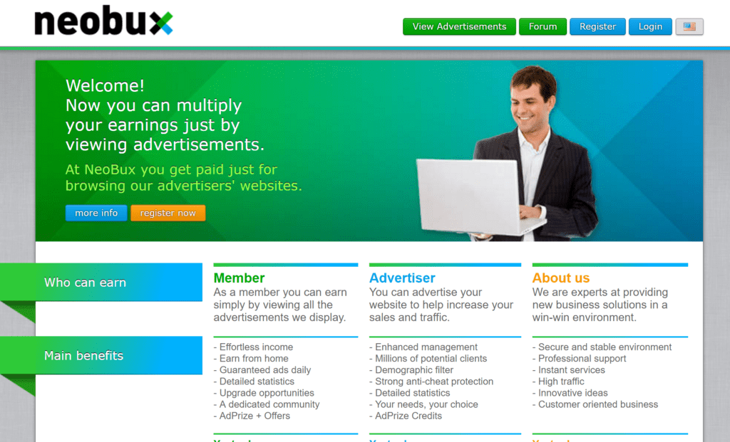 neobux ptc ads sites