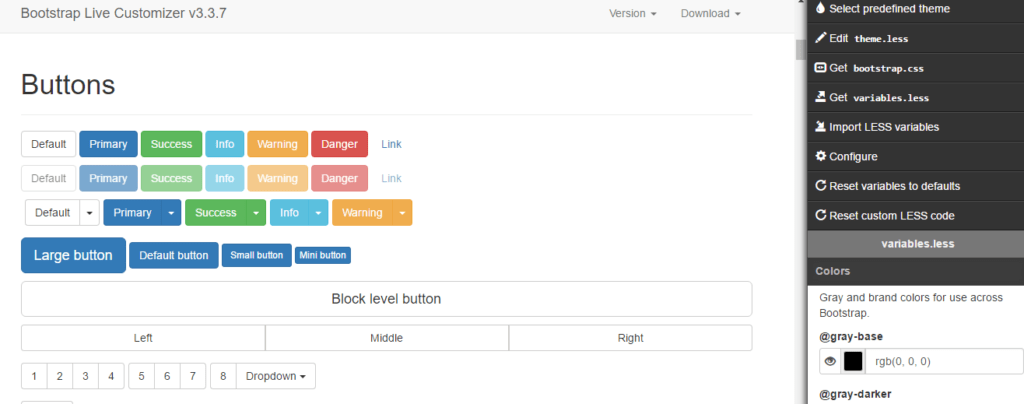 bootstrap-live-customizer