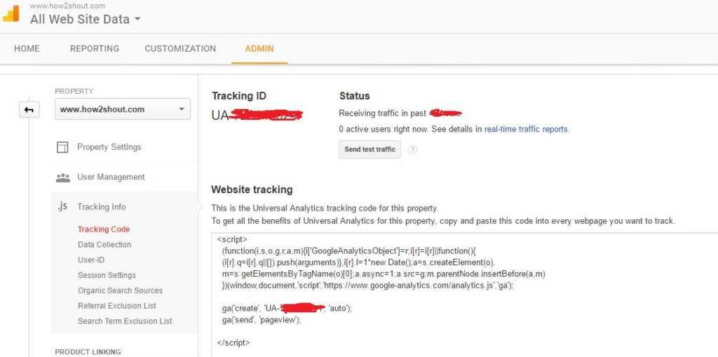 Google Analytics -tracking-code