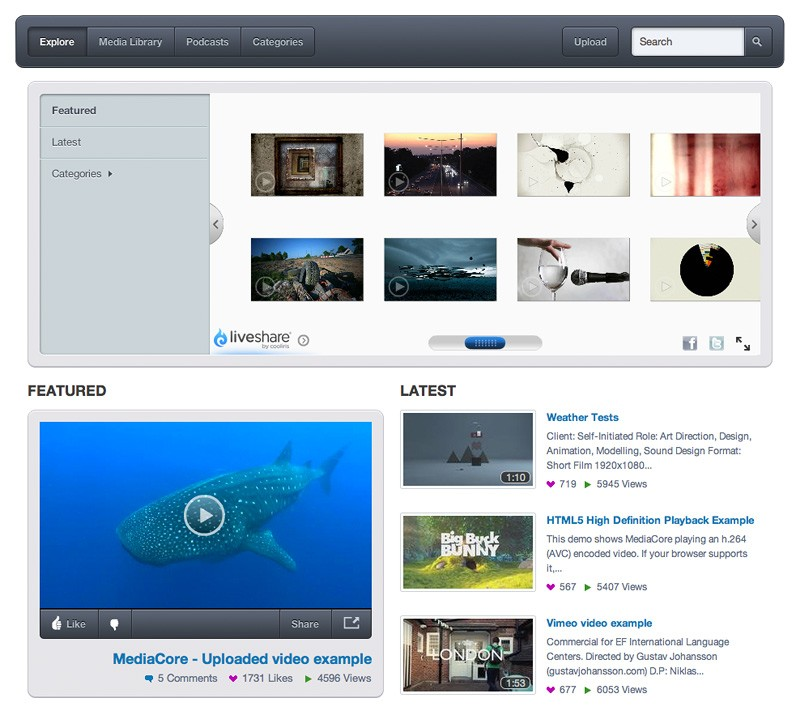 Medicore open source video cms
