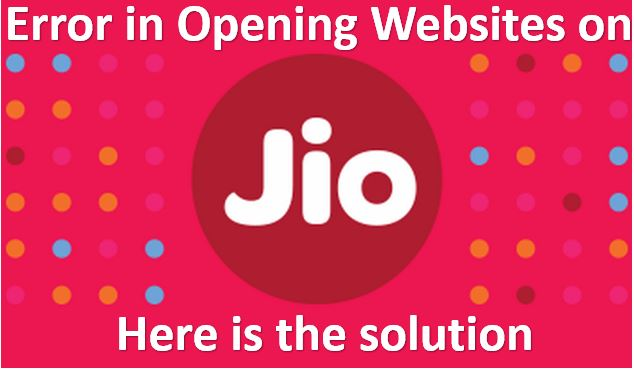 Some Websites Not Opening in Reliance Jio