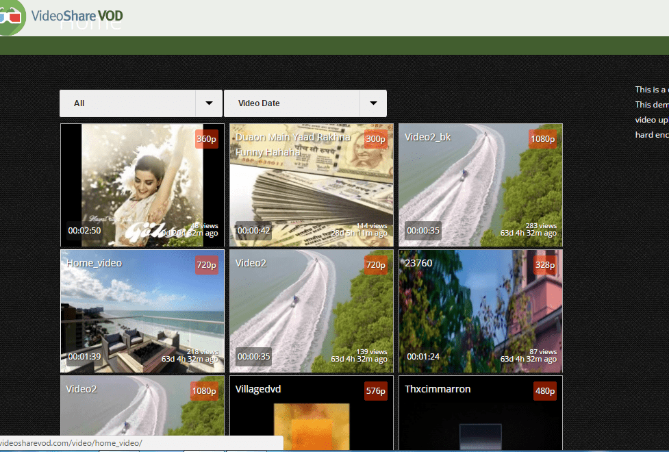 Video share open source video cms