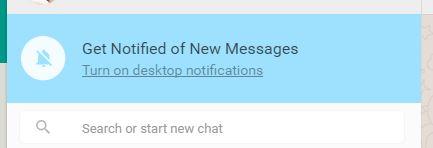 WHatsapp desktop notification after login
