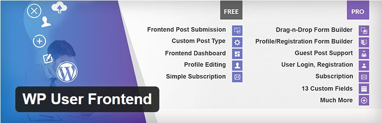 Wp user front end plugin