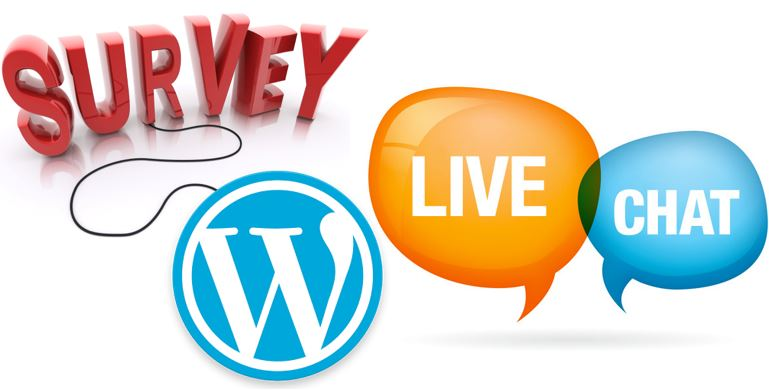 how to add survey live chat in wordpress