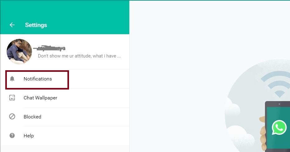 whats app desktop notification