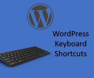 Shortcut keys for WordPress