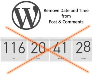 How to Remove Date and Time from Post & Comments in WordPress