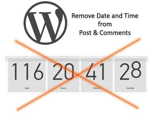 Remove Date and Time from Post & Comments in WordPress