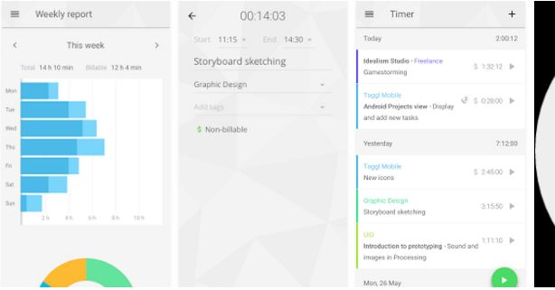 Toggl time tracking productivity ap, work productivity apps, to do app, free productivity software, odia calendar apps, software productivity tools, organizing apps