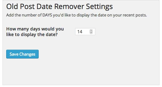 WP Old Post Date Remover remove date and time