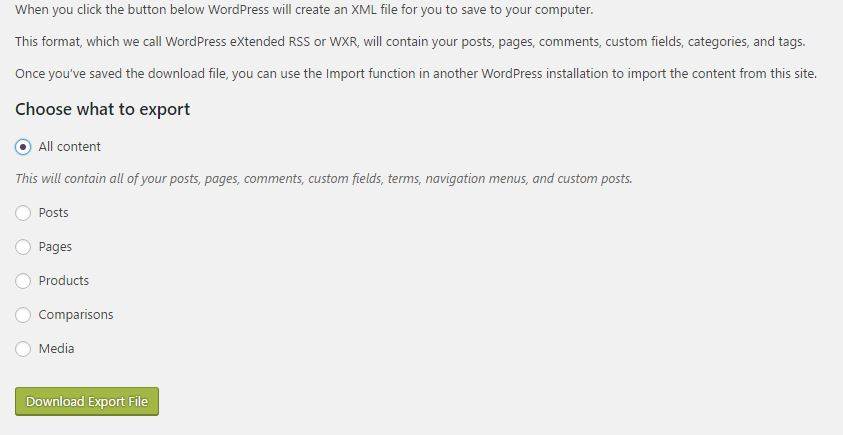 WordPress.com to WordPress.org download