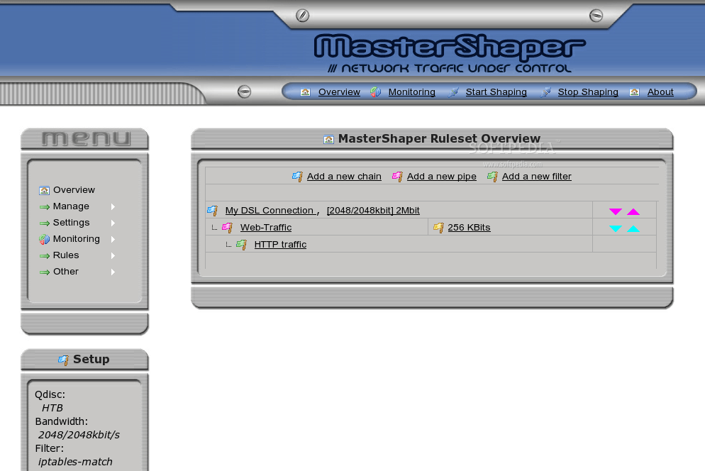 MasterShaper bandwidth traffic shapper