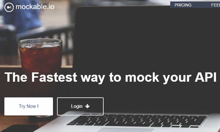 Mockable.io temprarory API backend