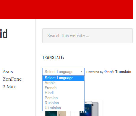 WordPress free translate