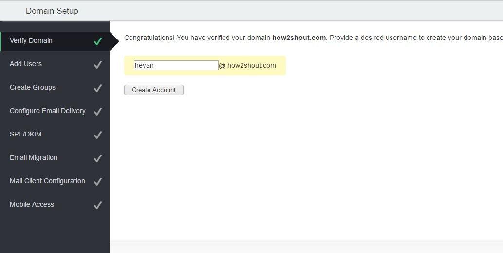 Zoho mail free email address