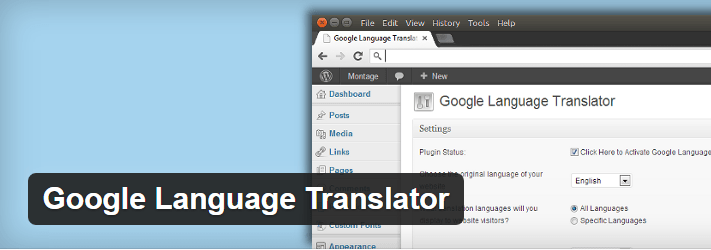 free wordpress transalte Google Translator