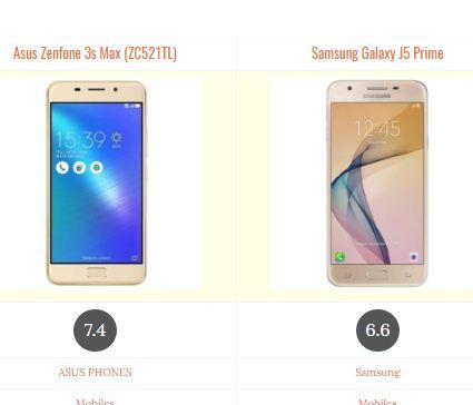 Asus Zenfone 3s Max (ZC521TL) vs Samsung Galaxy J5 Prime