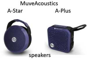 MuveAcoustics A-Star and A-Plus portable bluetooth speaker