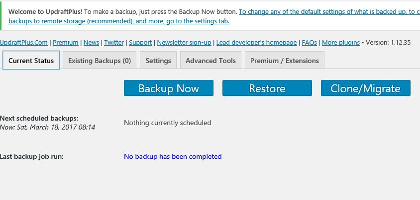 clone WordPress backup plugin