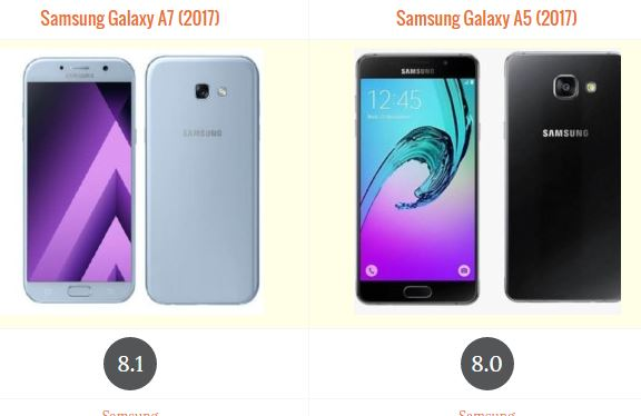 samsung galaxy a7 2017 vs samsung galaxy a5 2017
