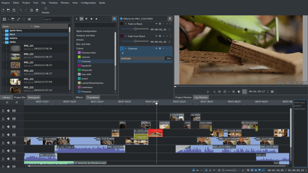 KDEnlive KDE Non-Linear Video Editor