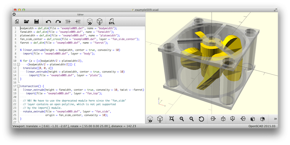 Openscad Opensource CAD software
