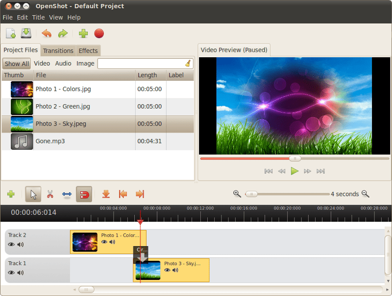 Openshot free video editing software for Linux, window and Mac