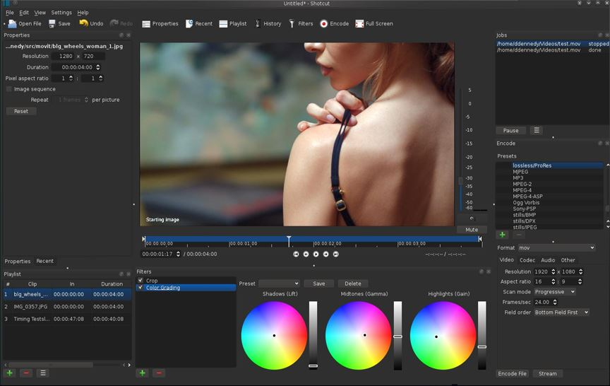 Opensource video editor Shotcut