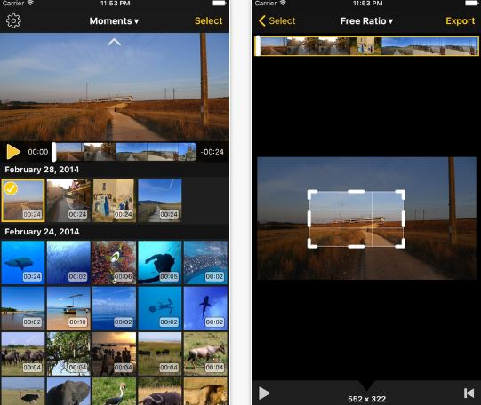 Video Crop Remove unwanted areas video editing apps