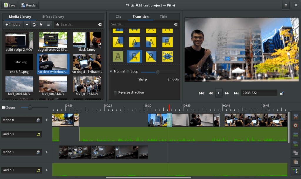 pitivi free editing software video editor