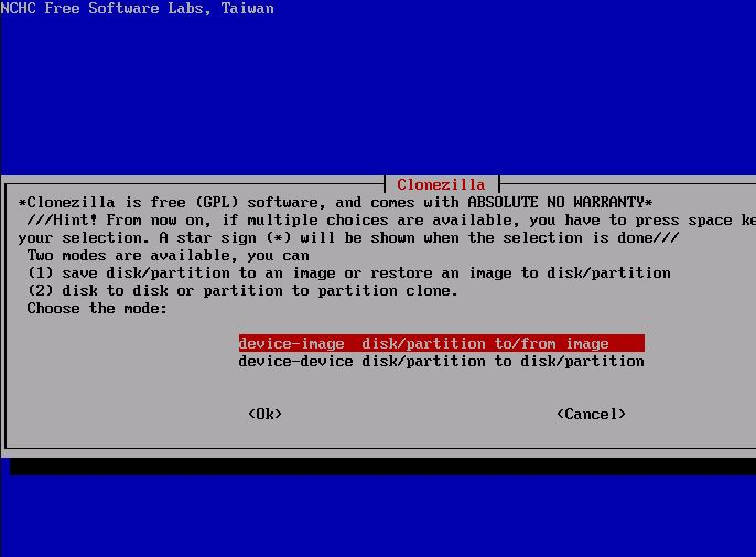 Clonezilla is a partition and disk software
