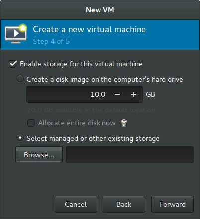 Rockstor On Debian in Virtual Machine system disk