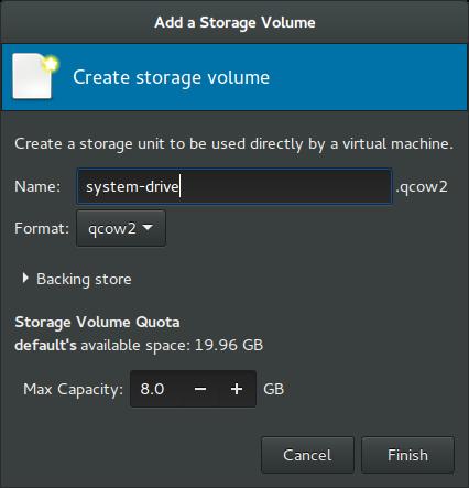 Rockstor On Debian in Virtual Machine system drive