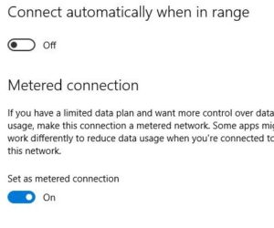 How to Set an Ethernet metered connection on Windows 10