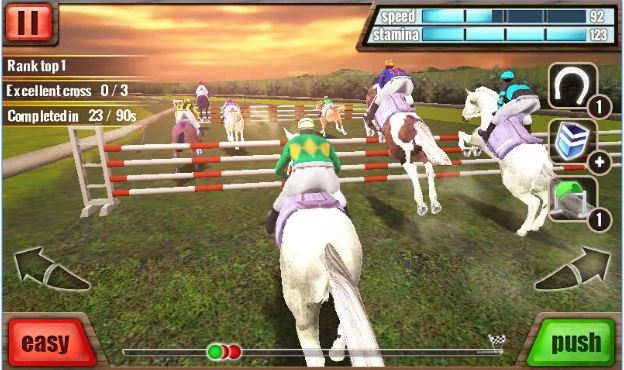 3D Horse Racing Game for girls