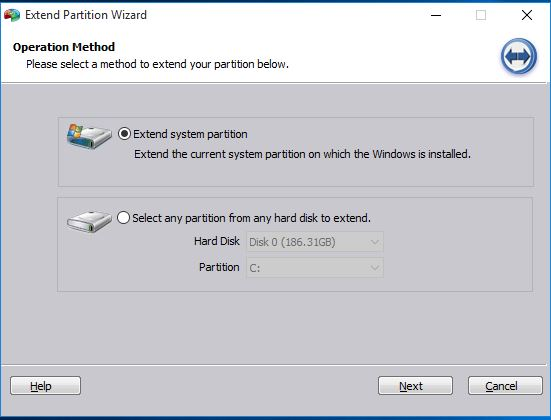 AOMEI Extend Partition Wizard
