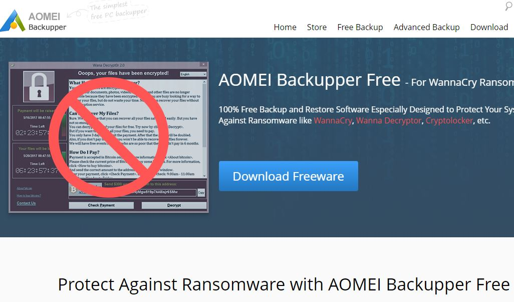 AoMEI backupoer ransomware review