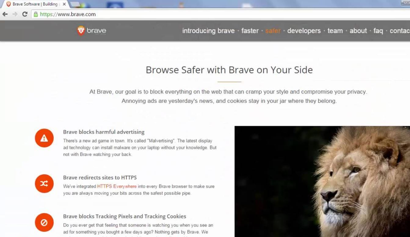 Brave broswer a privacy browser for private Browsing