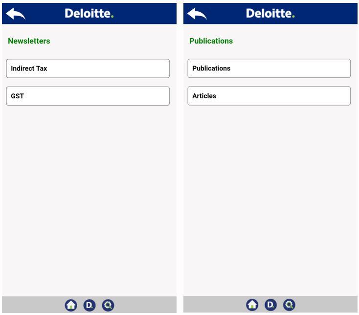 Deloitte GST mobile App GST Suvidha Provider GSPs Deloitte accounting.