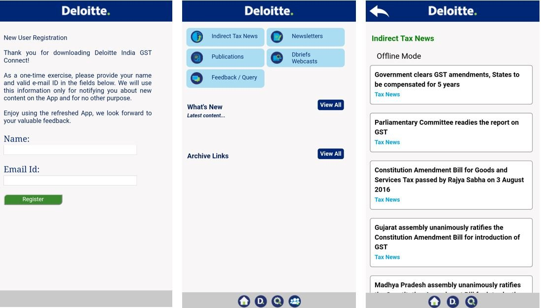 Deloitte GST mobile App is from one of the GST Suvidha Provider GSPs Deloitte accounting.