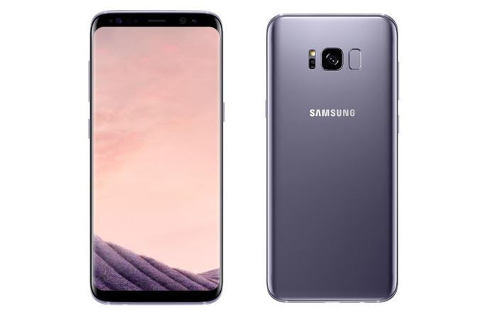 Galaxy S8 and Galaxy S8+, in an orchid Gray colour w