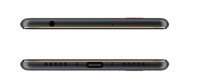 ZTE Nubia N2 Top and bottom