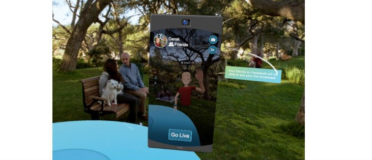 Facebook live Spaces VR App
