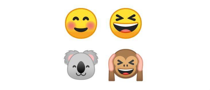google gird Android Emoji Fonts