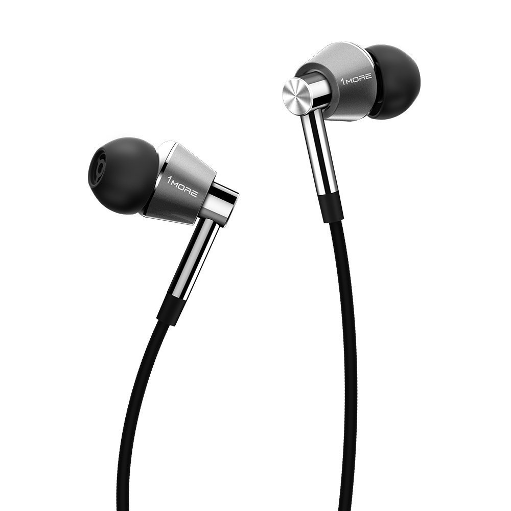 1MORE Triple Driver Lightning In-Ear Headphones Earphones In-built DAC, Apple MFi Certified All iPhone, iPad, iPod with Microphone and Control Remote Titanium
