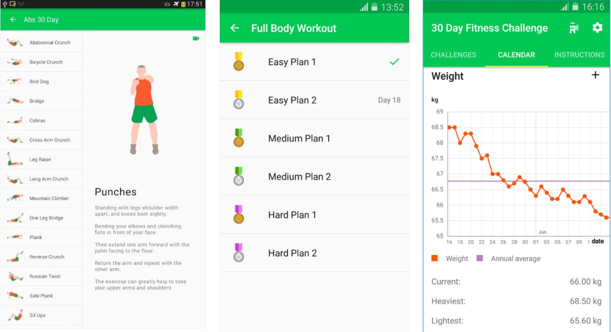 Workout Calendar App : Free best workout apps for men and women h s media