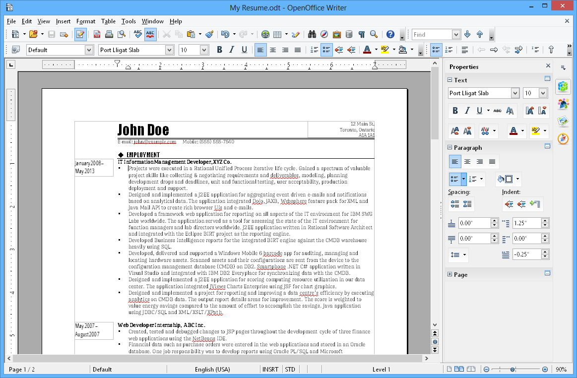 Apache OpenOffice opensource office suite for windows