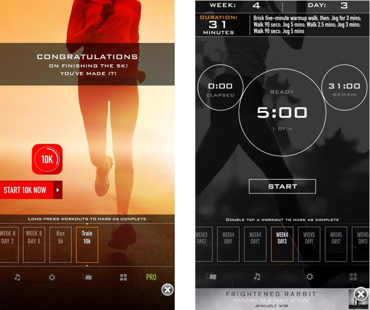 C25K 5K Running Trainer best workout apps for running and stregnth workout routines